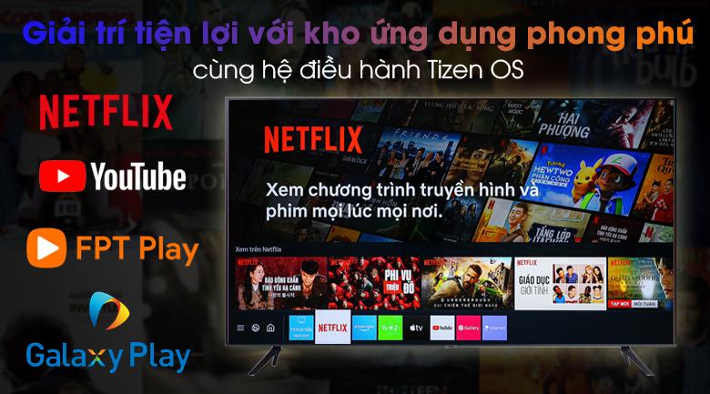 Smart Tivi Samsung 4K 50 inch UA50AU7200 - Giao diện thân thiện, ứng dụng đa dạng trên hệ điều hành Tizen OS