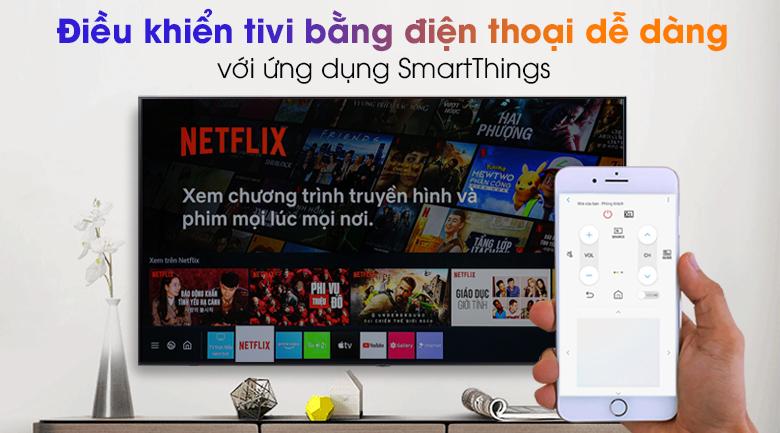Smart Tivi Samsung 4K 50 inch UA50AU7200 - Điều khiển tivi nhẹ nhàng qua điện thoại bằng ứng dụng SmartThings thuận tiện
