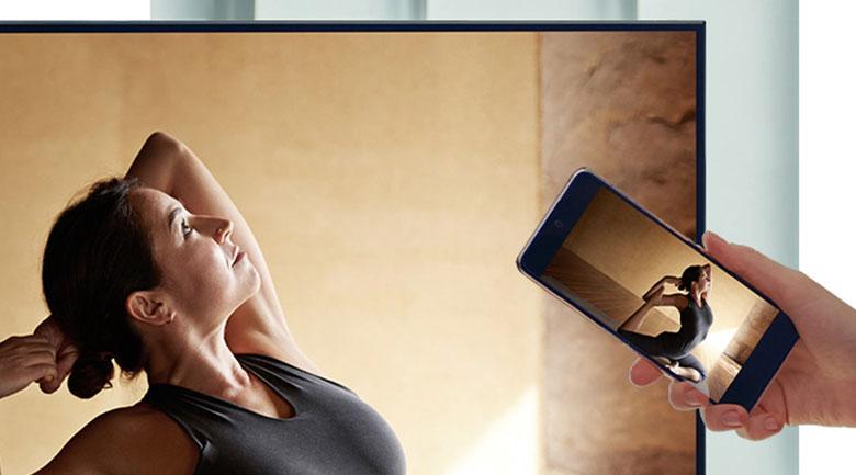 Smart Tivi Samsung 4K 55 inch UA55AU7200 - Tap View