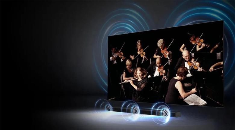 Smart Tivi Samsung 4K 55 inch UA55AU7200 - Âm thanh