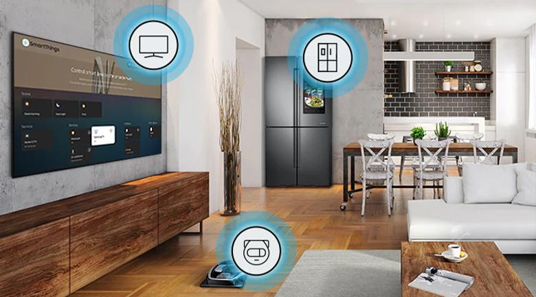 Smart Tivi Samsung 4K 55 inch UA55AU7200 - SmartThings