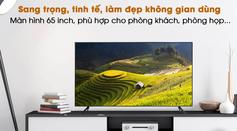 Sang trọng, tinh tế - Smart Tivi Samsung 4K 65 inch UA65AU7200