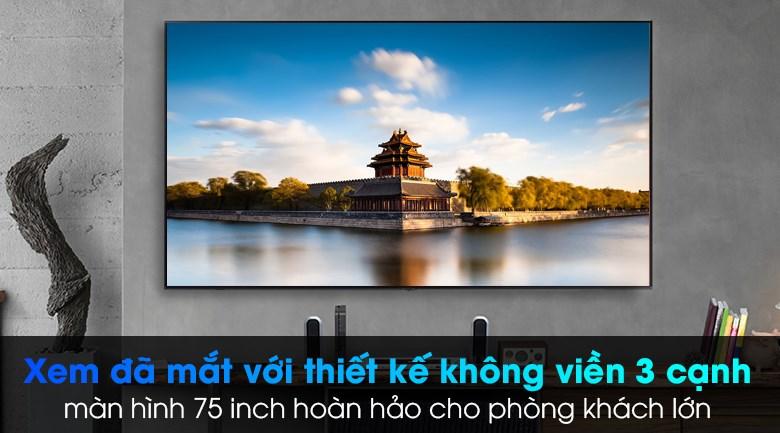 Smart Tivi Samsung 4K 75 inch UA75AU7000 - Thiết kế tối giản, không viền 3 cạnh sang trọng