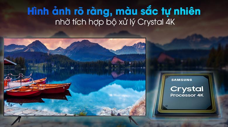 Smart Tivi Samsung 4K 75 inch UA75AU7000 - Tối ưu hóa độ chi tiết của từng gam màu qua bộ xử lý Crystal 4K