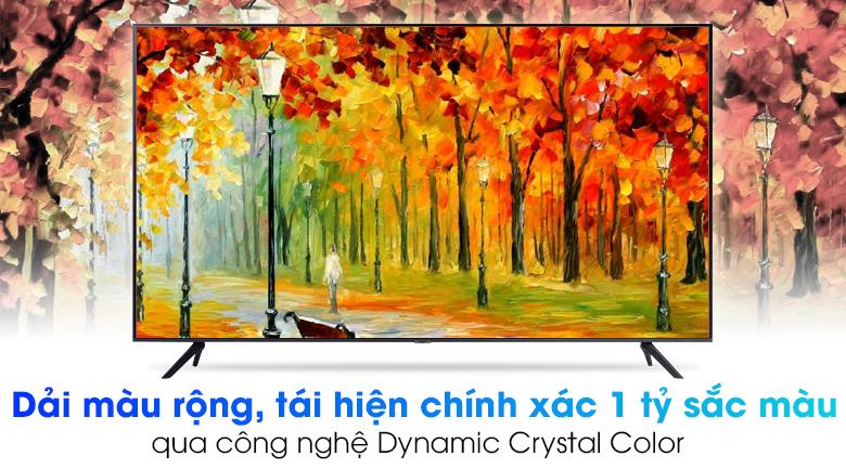 Smart Tivi Samsung 4K 75 inch UA75AU7000 - Tái hiện chính xác 1 tỷ sắc màu với công nghệ Dynamic Crystal Color hiện đại