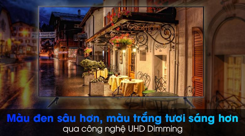 Smart Tivi Samsung 4K 75 inch UA75AU7000 - Nâng cấp hiển thị hình ảnh trung thực qua công nghệ UHD Dimming
