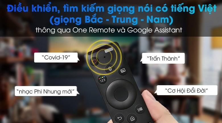 Smart Tivi Samsung 4K 75 inch UA75AU7000 - Điều khiển qua giọng nói có tiếng Việt giọng Bắc - Trung _ nam cùng One Remote và Google Assistant