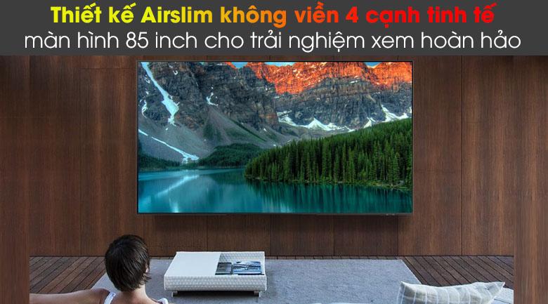 Smart Tivi QLED Samsung 4K 85 inch QA85Q60A - Tạo điểm nhấn cho không gian sống với thiết kế Airslim không viền 4 cạnh tinh tế