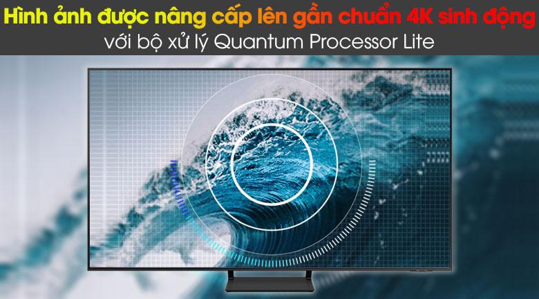 Smart Tivi QLED Samsung 4K 85 inch QA85Q60A - Tối ưu chất lượng khung hình từ nguồn phát nhờ bộ xử lý Quantum Processor Lite
