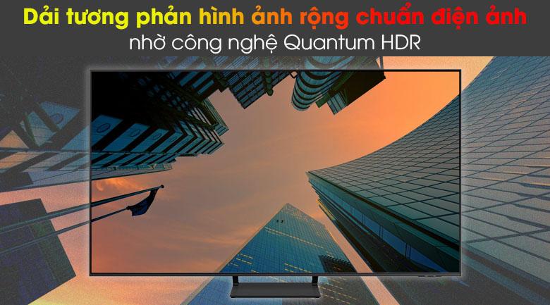 Smart Tivi QLED Samsung 4K 85 inch QA85Q60A - Dải tương phản rộng chuẩn điện ảnh nhờ công nghệ Quantum HDR