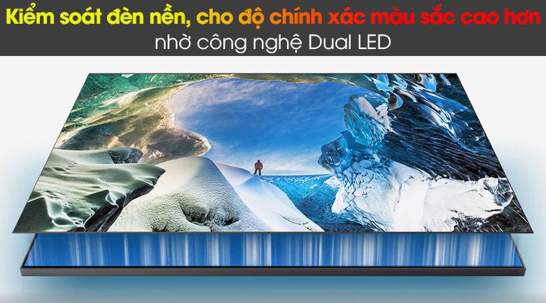 Smart Tivi QLED Samsung 4K 85 inch QA85Q60A - Kiểm soát đèn nền, cho độ chính xác màu sắc cao hơn nhờ công nghệ Dual LED