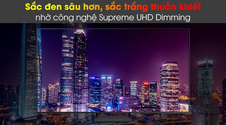Smart Tivi QLED Samsung 4K 85 inch QA85Q60A - Độ tương phản cao, sắc đen sâu hơn, sắc trắng thuần khiết nhờ công nghệ Supreme UHD Dimming