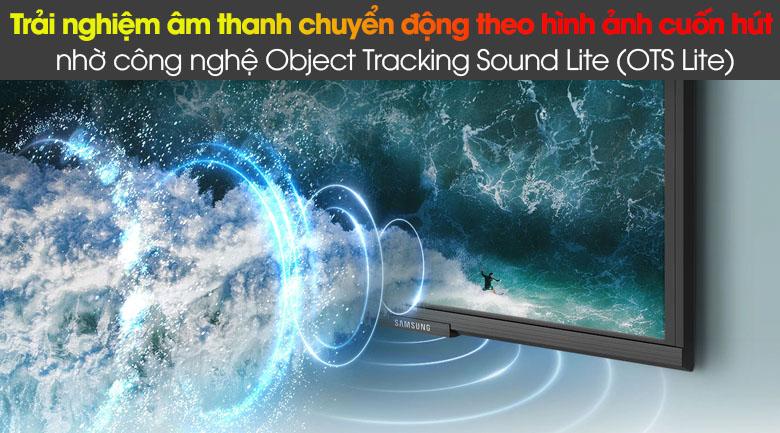 Smart Tivi QLED Samsung 4K 85 inch QA85Q60A - Thưởng thức âm thanh chuyển động cùng hình ảnh qua công nghệ Object Tracking Sound Lite (OTS Lite)