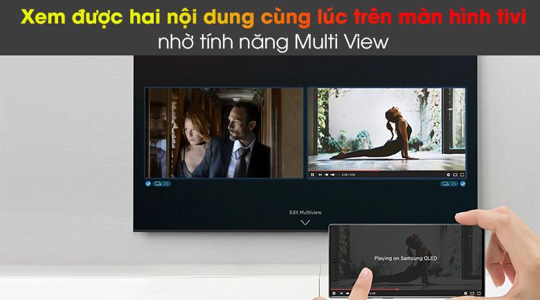 Smart Tivi QLED Samsung 4K 85 inch QA85Q60A - Xem được nhiều nội dùng cùng 1 lúc nhờ tính năng Multi View