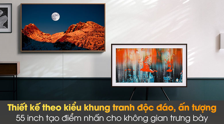 Tivi The Frame QLED 4K Samsung QA55LS03A - Thiết kế