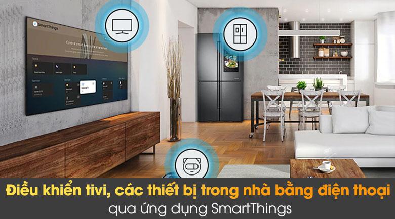 Tivi The Frame QLED 4K Samsung QA55LS03A - SmartThings
