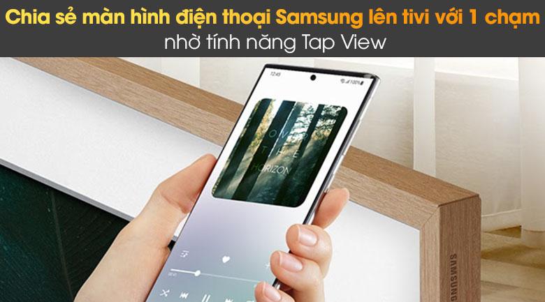 Tivi The Frame QLED 4K Samsung QA55LS03A - Tap View