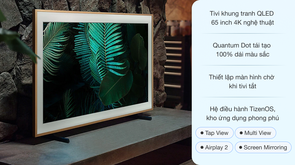 Smart Tivi Khung Tranh The Frame QLED Samsung 4K 65 inch QA65LS03A