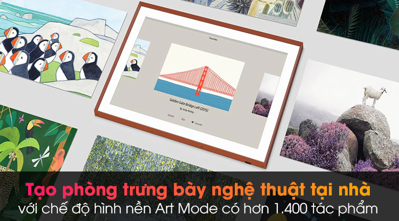 Smart Tivi Khung Tranh The Frame QLED Samsung 4K 65 inch QA65LS03A - Art Mode