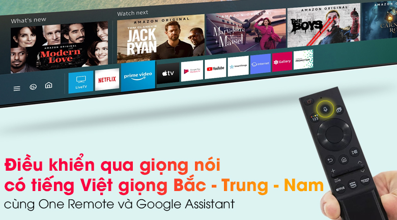 Smart Tivi Khung Tranh The Frame QLED Samsung 4K 65 inch QA65LS03A - One Remote và Google Assistant