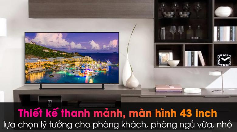 Smart Tivi Led Samsung 4K 43 inch UA43AU9000 - Thiết kế nhỏ gọn, tinh xảo