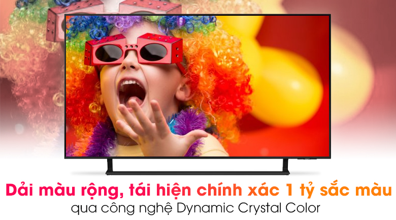 Smart Tivi Led Samsung 4K 43 inch UA43AU9000 - Choáng ngợp trước bữa tiệc sắc màu sống động qua công nghệ Dynamic Crystal Color