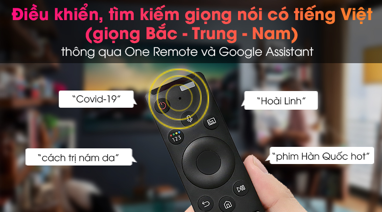 Smart Tivi Led Samsung 4K 43 inch UA43AU9000 - Điều khiển bằng giọng nói có tiếng Việt giọng 3 miền cùng One Remote và trợ lý ảo Google Assistant
