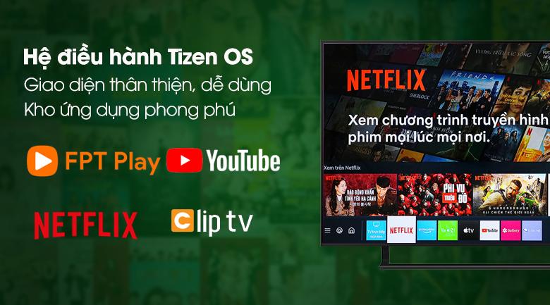 Smart Tivi Led Samsung 4K 43 inch UA43AU9000 - Hệ điều hành Tizen OS có giao diện phẳng, dễ dùng