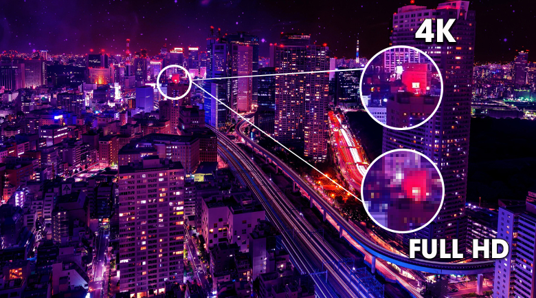 Smart Tivi Led Samsung 4K 43 inch UA43AU9000 - Khung hình sắc nét với độ phân giải 4K có 8 triệu điểm ảnh