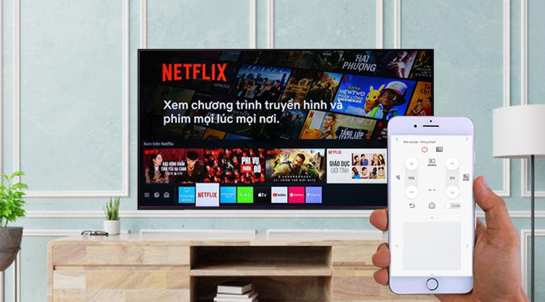 Smart Tivi Led Samsung 4K 43 inch UA43AU9000 - Sử dụng điện thoại để điều khiển tivi bằng ứng dụng SmartThings