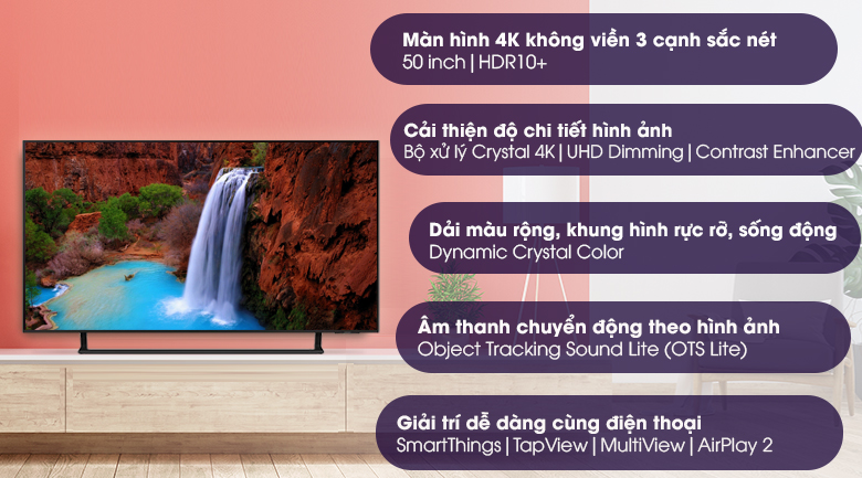 Smart Tivi Led Samsung 4K 50 inch UA50AU9000