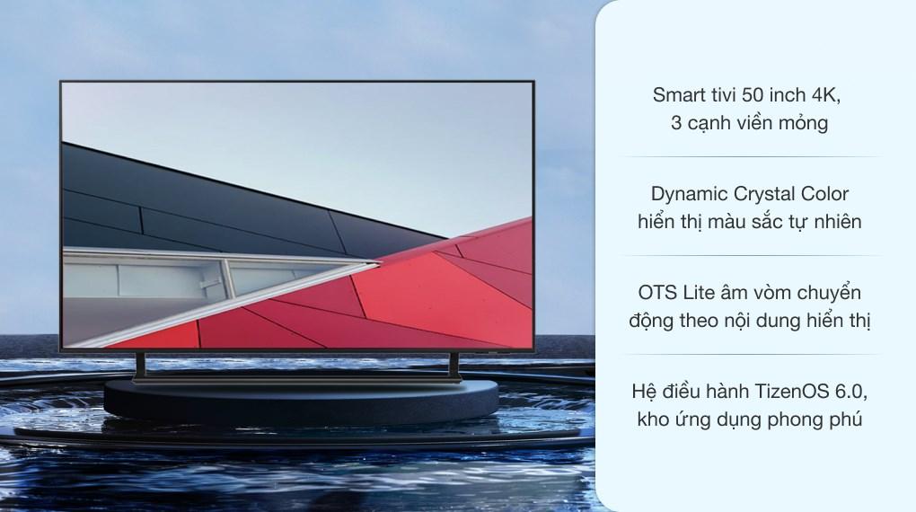 Smart Tivi Samsung 4K Crystal UHD 50 inch UA50AU9000