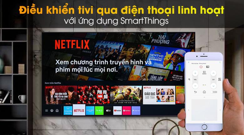 Smart Tivi Led Samsung 4K 55 Inch UA55AU9000 - SmartThings