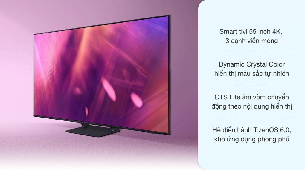 Smart Tivi Samsung 4K Crystal UHD 55 Inch UA55AU9000