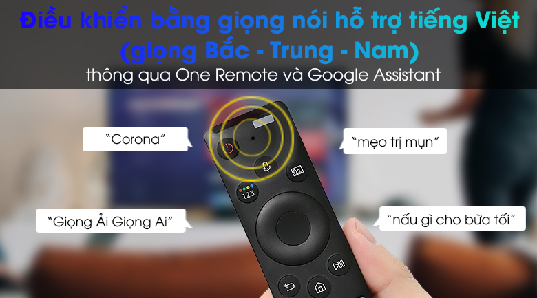 Smart Tivi Led Samsung 4K 65 inch UA65AU9000 - One Remote