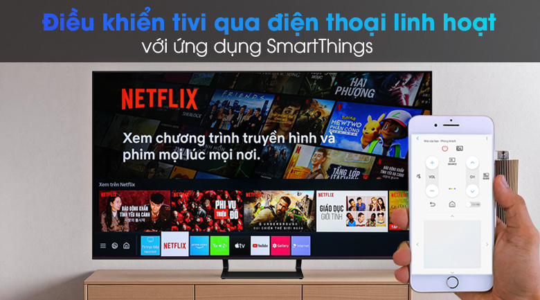 Smart Tivi Led Samsung 4K 65 inch UA65AU9000 - SmartThings