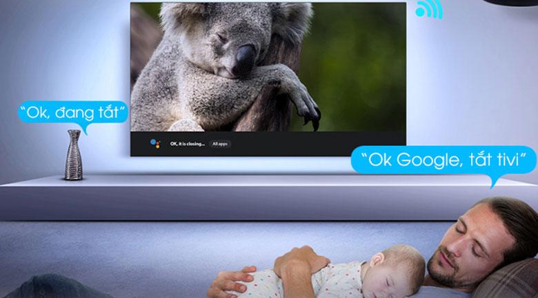 Tivi QLED 4K TCL 50Q726 - Android tivi TCL tích hợp Google Assisstant tìm kiếm với giọng nói tiếng Việt mà không cần chạm đến remote
