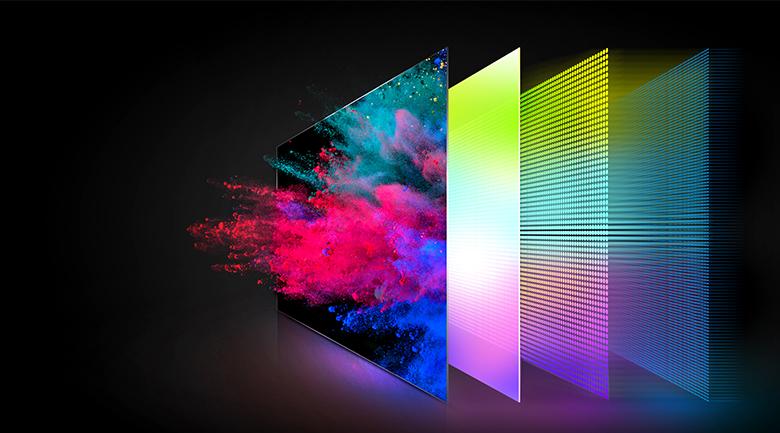 Tivi QLED 4K TCL 50Q726 - Sắc màu rực rỡ, thuần khiết qua công nghệ màn hình chấm lượng tử Quantum Dot