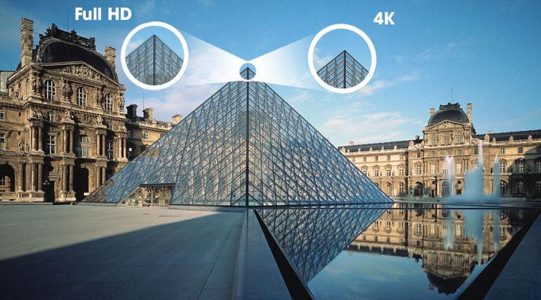 Tivi QLED 4K TCL 50Q726 - Hình ảnh hiển thị rõ nét gấp 4 lần Full HD nhờ độ phân giải 4K
