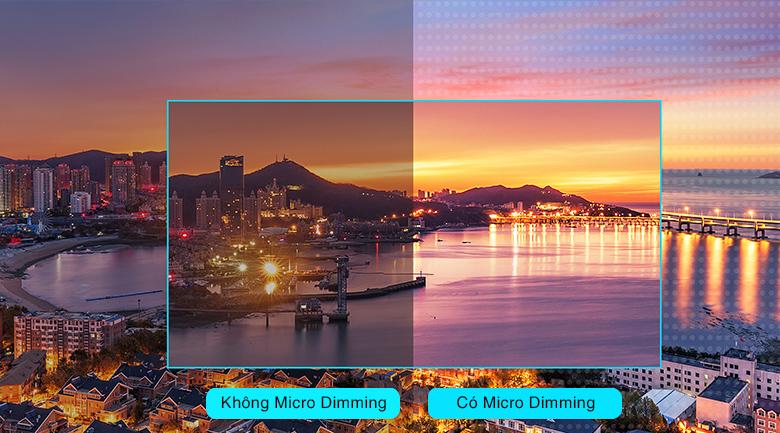 Tivi QLED 4K TCL 50Q726 - Tận hưởng hình ảnh có độ tương phản cao qua công nghệ Micro Dimming