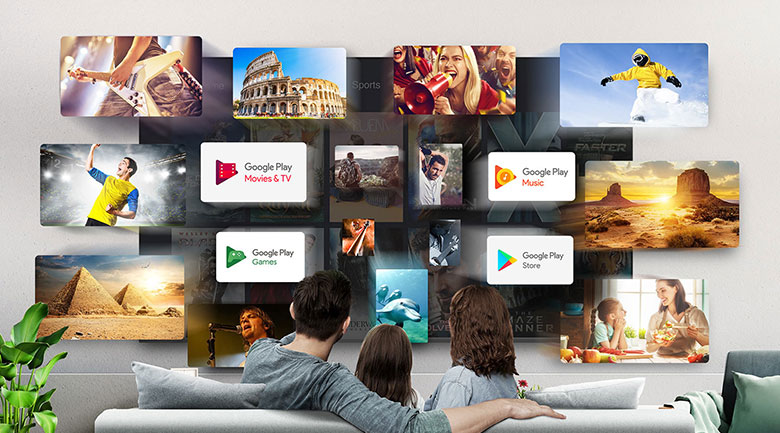 Tivi QLED 4K TCL 50Q726 - Hệ điều hành Android 11