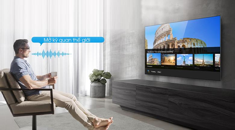 Điều khiển tivi không cần remote - Tivi LED 4K TCL 43P725