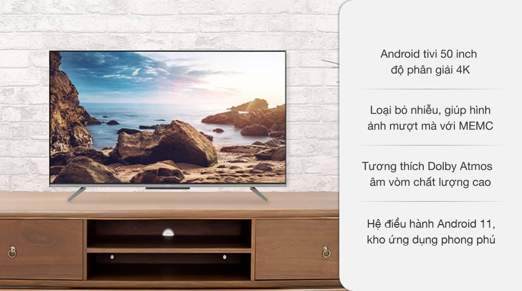 Android Tivi TCL 4K 50 inch 50P725