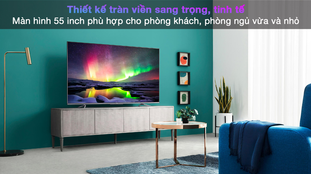 Android Tivi TCL 4K 55 inch 55P725 - Thiết kế