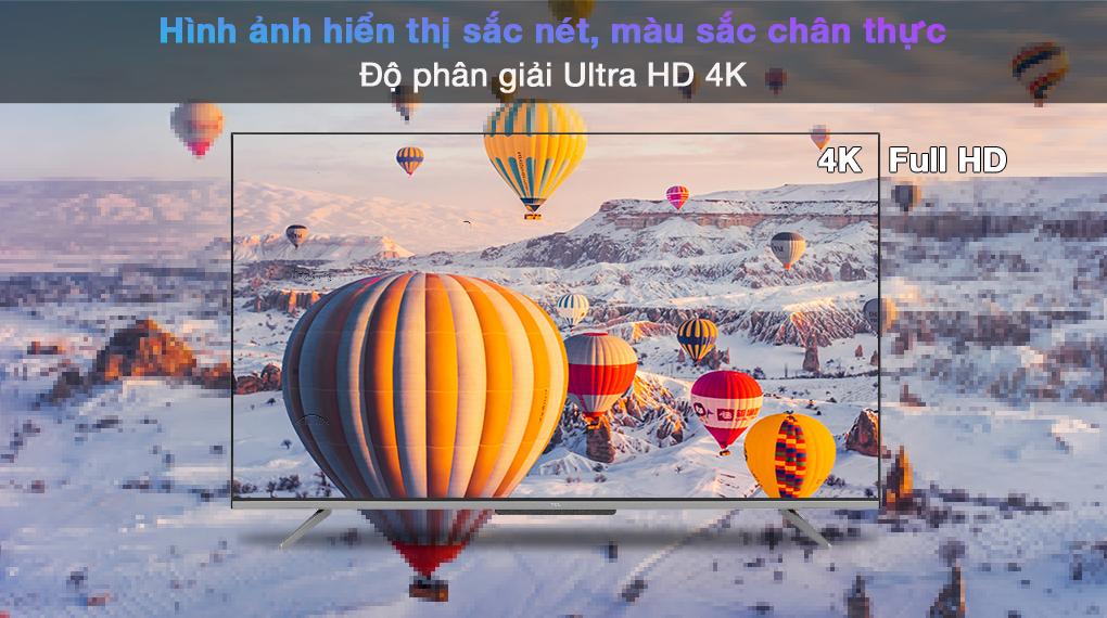 Android Tivi TCL 4K 55 inch 55P725 - Độ phân giải 4K