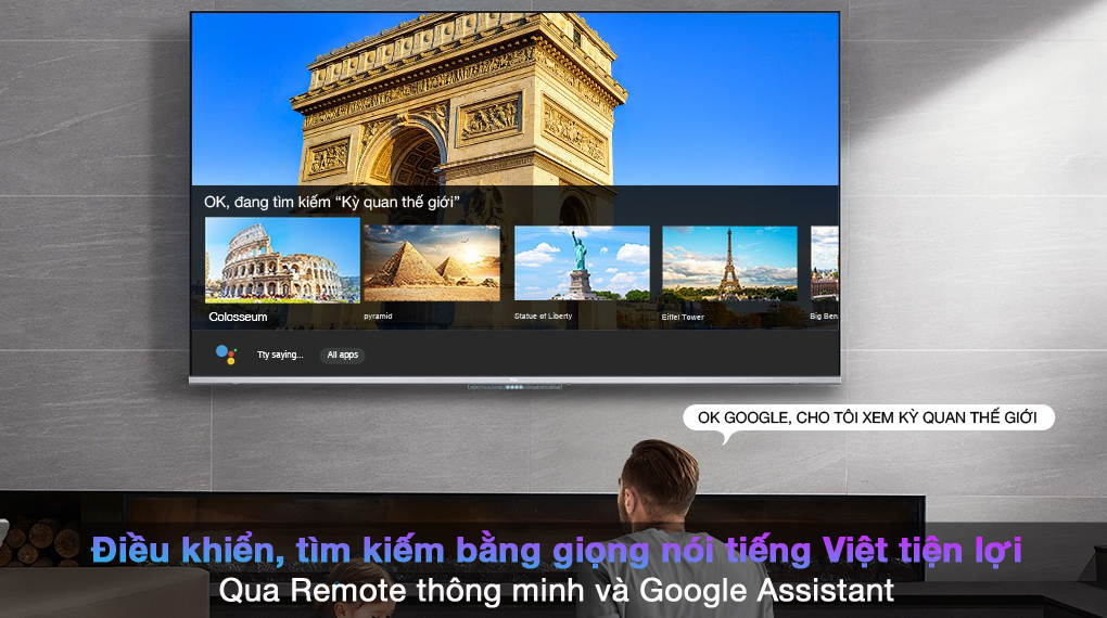 Android Tivi TCL 4K 55 inch 55P725 - Google Assistant