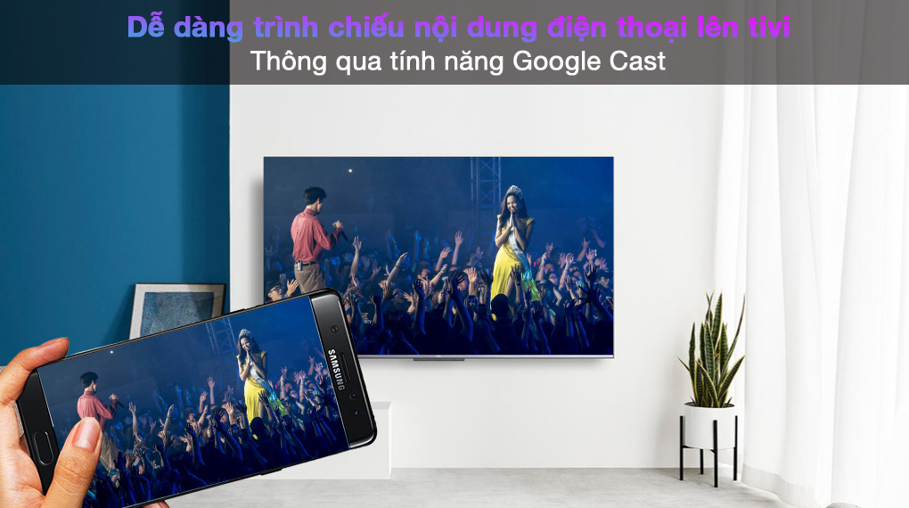 Android Tivi TCL 4K 55 inch 55P725 - Google Cast