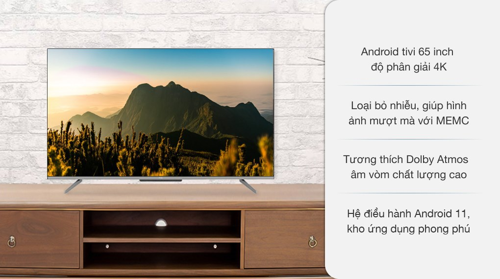 Android Tivi TCL 4K 65 inch 65P725