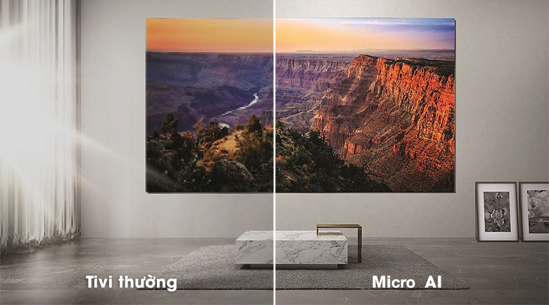Smart Tivi The Wall Micro LED Samsung 4K 110 Inch MNA110MS1A  - Micro AI
