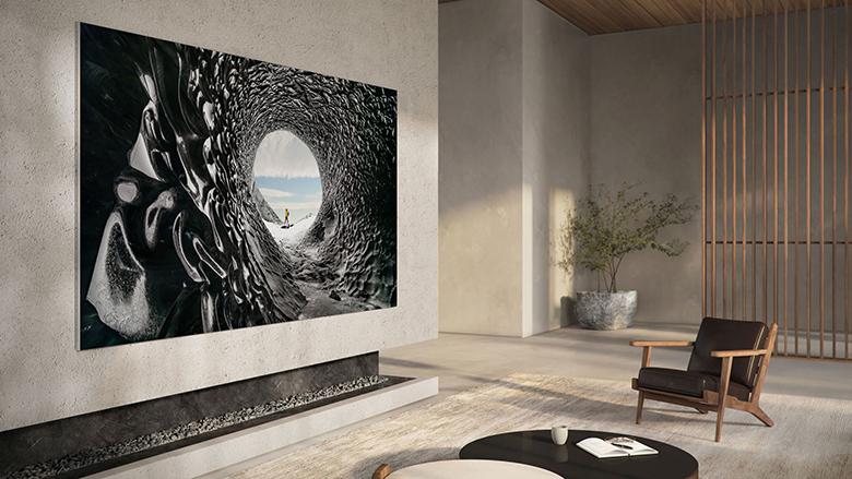 Góc nhìn siêu rộng 160 độ trên tivi Mirco LED 110 inch